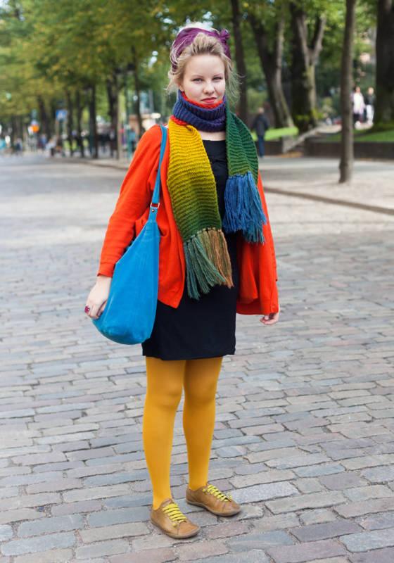 Уличная мода Хельсинки.