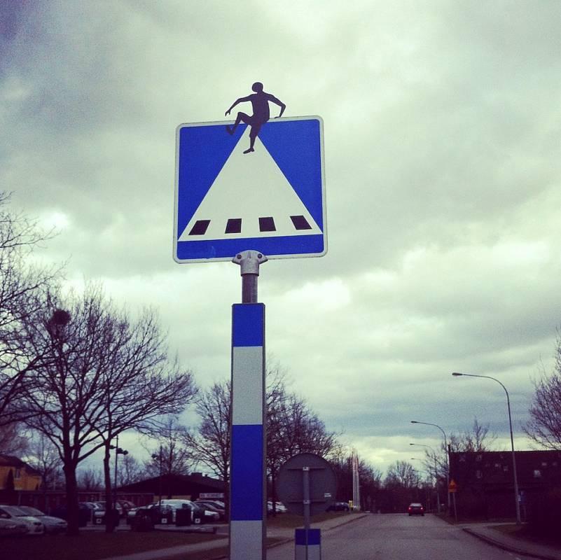 Уличное искусство в Швеции.